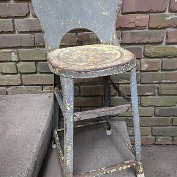 old metal stool - Furniture