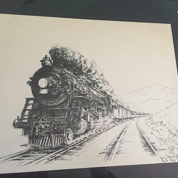 Jay Gould locomotive  - Railroadiana
