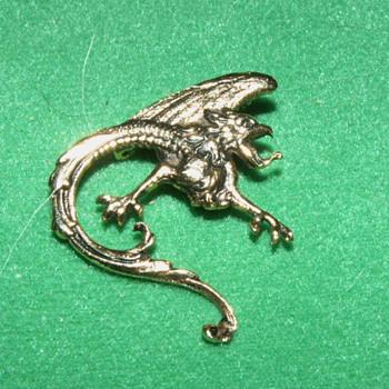 Vintage Brooch ~ Wyvern - Costume Jewelry