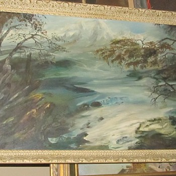 Stormy weather oil painting  - Fine Art