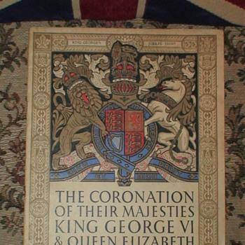 Antique King George VI Queen Elizabeth 1937 Coronation Booklet & Pin - Politics