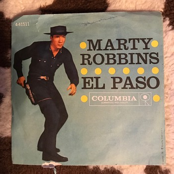 Marty Robbins El Paso with Picture Sleeve - Records