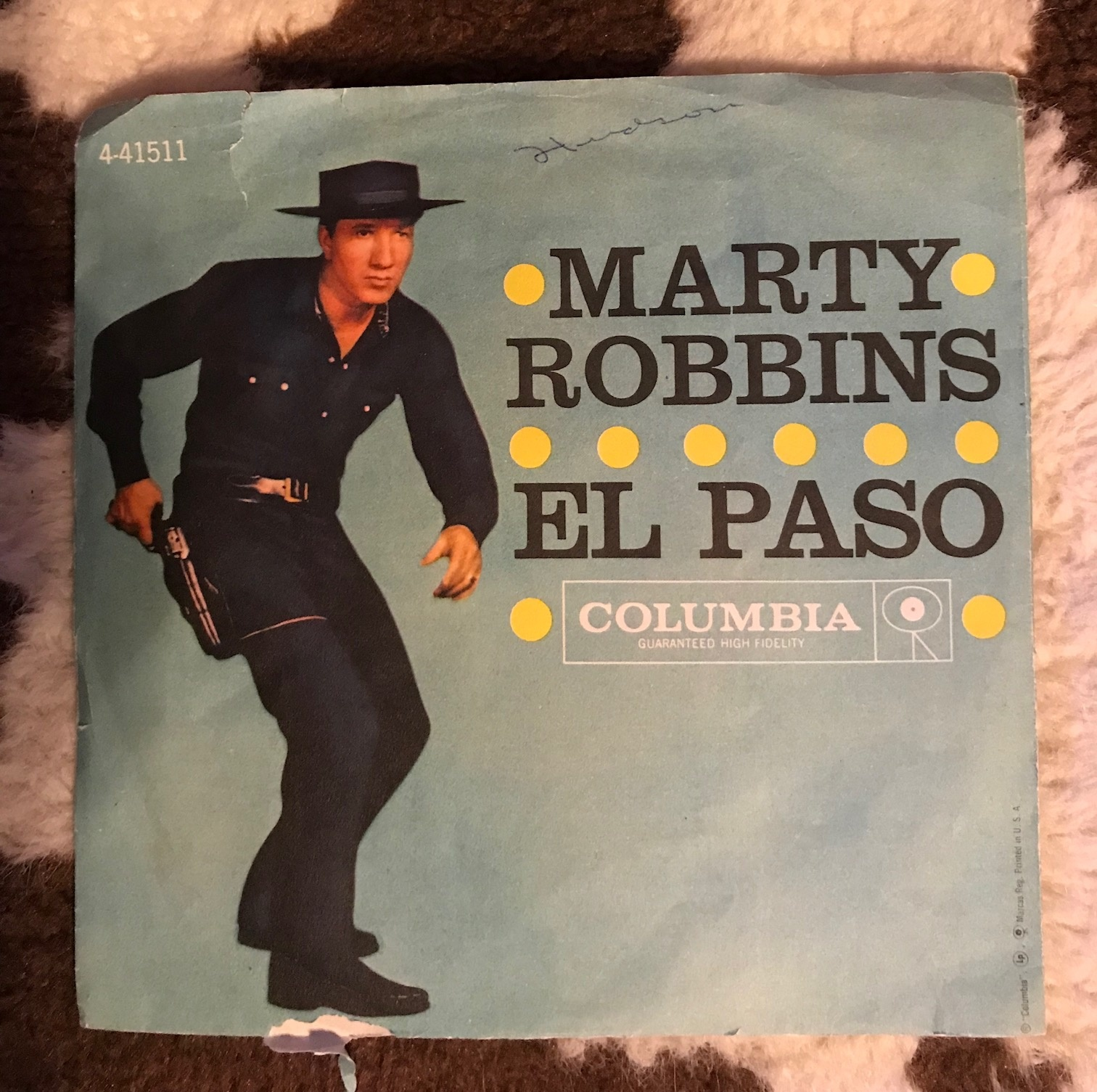Image result for marty robbins el paso single images