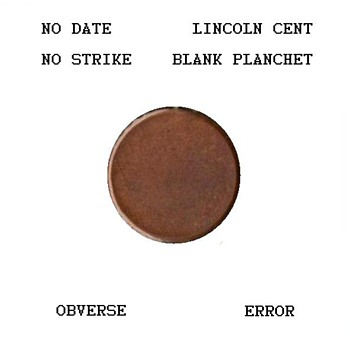Lincoln Cent - Blank Planchet ERROR