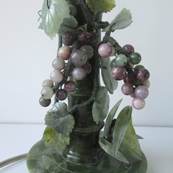 Spinach Jade? Vintage Lamp..c1930 - Lamps