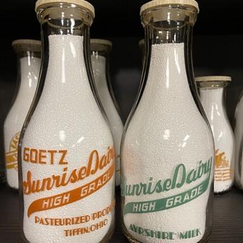 Couple Tiffin Ohio Milk Bottles - Bottles