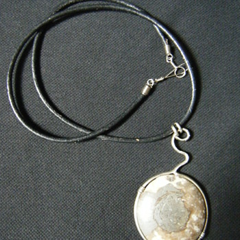 Native American Necklace/choker Fossil Ammonite - Fine Jewelry