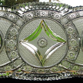 Third Plate Bohemian Brilliant Cut Glass - Art Glass