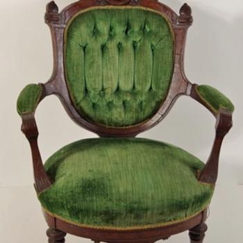 Corsette Back Parlor Arm Chair - Furniture