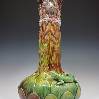 1898 Émile Muller et Cie & Alexandre Vibert Large Ceramic Vase