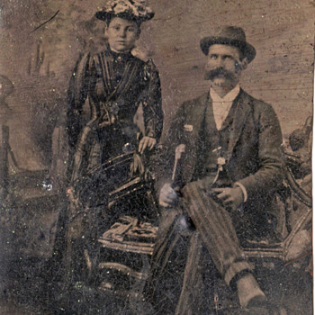 Unknown couple in tintype - Photographs