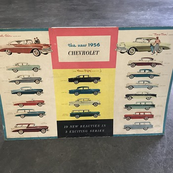 Original Chevrolet 1955 and 1956   new car posters  - Classic Cars