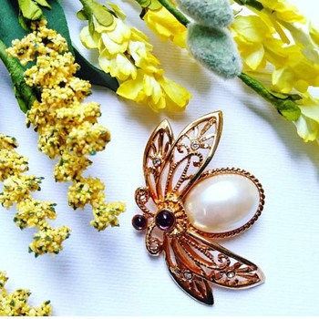 "Avon ""Nature's Flight"" Brooch  - Costume Jewelry"