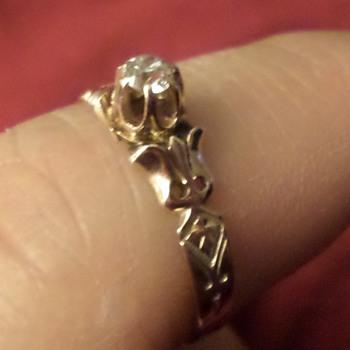 victorian mine cut diamond solitaire ring - Fine Jewelry