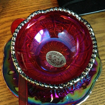Possible Jelly Dish Carnival Glass