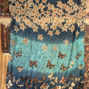 Long Silk Butterfly Scarf - Accessories