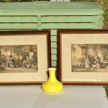 Antique 1840's Thomas Allom Steel Prints of Chinese Life by Rev G.N. Wright - Fine Art