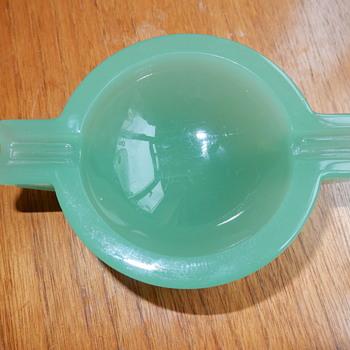 Uranium Jadeite Glass Ashtray - Glassware