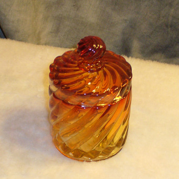 Baccarat Rose Tiente dresser jar - Art Glass