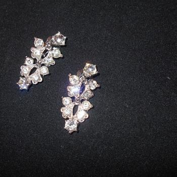 Bogoff  rhinestone dangle earrings