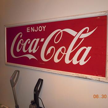 "24""x60"" Coca-Cola Sign by Donasco - Coca-Cola"