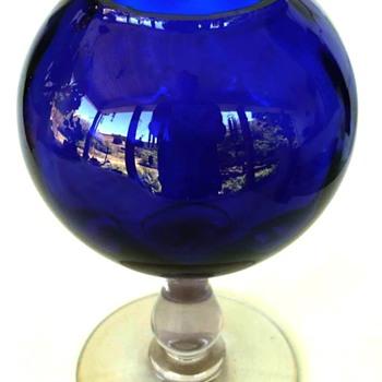 Cobalt Portieux Vallerysthal Cobalt Crystal Stemmed Vase