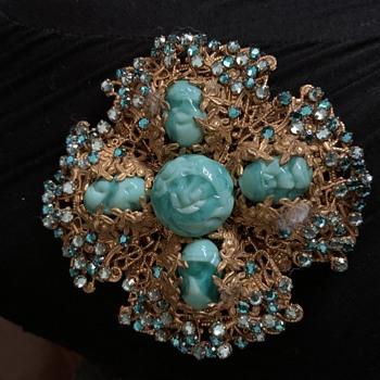 Miriam Haskell Brooch - Costume Jewelry