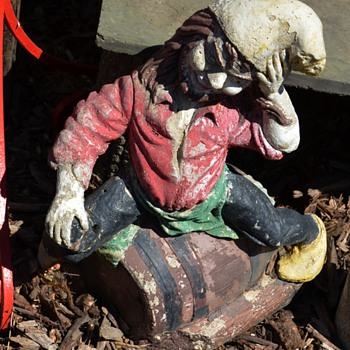 Another old gnome - this one sitting on a keg