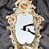 Vintage Antique Porcelain Mirror