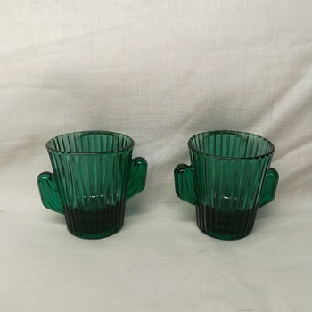 Libby green cactus shot glasses