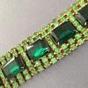 Vintage Green Rhinestone Bracelet for St. Patrick's Day