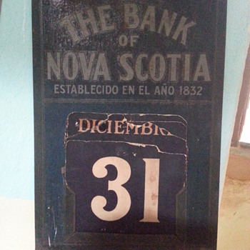 Calendar - Bank of Nova Scotia / Branch Havana, Cuba 1906  - Advertising