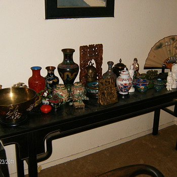 Oriental Artifacts and crystal - China and Dinnerware