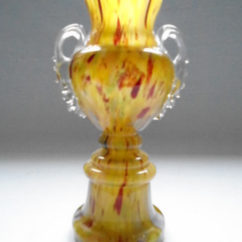 Bohemian Welz Trophy vase - Art Glass