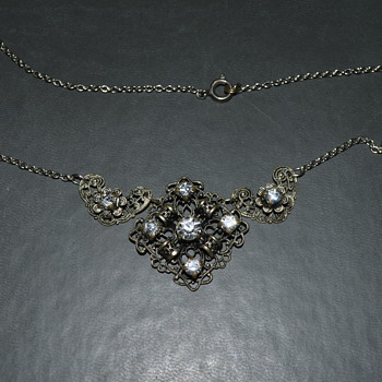 Vintage Czech filigree necklace - Costume Jewelry