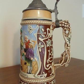 12 in. German Stein Circa 1870's. Family heirloom.