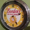 Borden Milk advertising clock