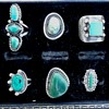 Six antique Navajo silver rings