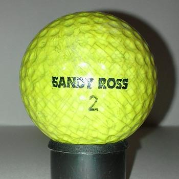 Yellow Sandy Ross Signature Golf Ball