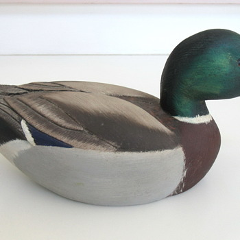 Wood Mallard Duck Decoy