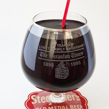 100th Anniversary Snifter…Scranton Times. - Glassware