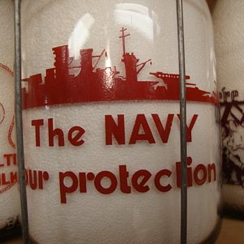 KITSAP DAIRY...BREMERTON WASHINGTON WAR SLOGAN QUART MILK BOTTLE - Bottles