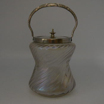 Mystery Bohemian Cookie Jar, Circa 1900 - Art Glass