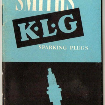 1954 - K.L.G. Motor Cars Spark Plugs Booklet