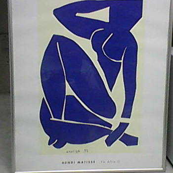 NU BLEU 111 1952 LITHOGRAPH - Posters and Prints
