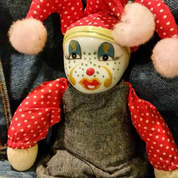 China Jester minature porcelin face doll