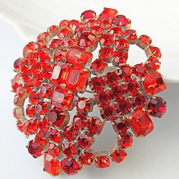 Rhinestone pins and brooches  - Costume Jewelry