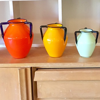 Tango 3-handle vases - sizes - Art Glass