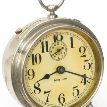Early Westclox Baby Ben Alarm Clocks, 1913 - 1917 - Clocks