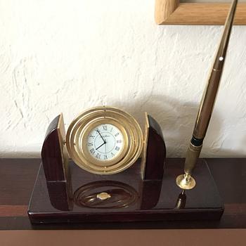 Seth Thomas executive desk set - Clocks